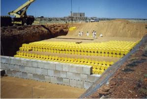 Waste being buried at Vaalputs