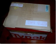 Box containing REBID documents