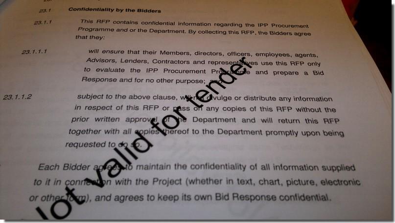 REBID confidentiality clause
