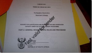 Front page of REBID document
