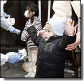 Child in Fukushima being tested for radiation