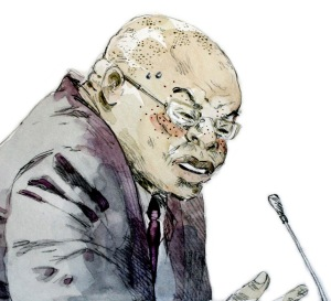 Drawing of Zizamele Mbambo