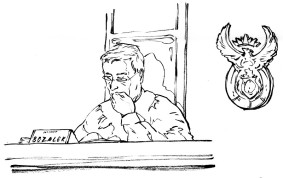 Line drawing of Judge Bozalek in the High Court