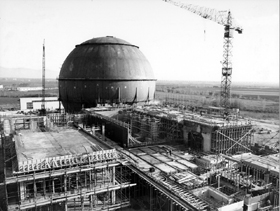 Gargliano nuclear plant under construction in 1961
