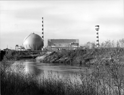 Gargliano nuclear plant view across river
