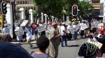 Photo of picket outside parliament in Cape Town
