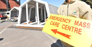 Emergency centre sign