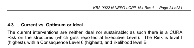 Extract from report: neither ideal nor sustainable