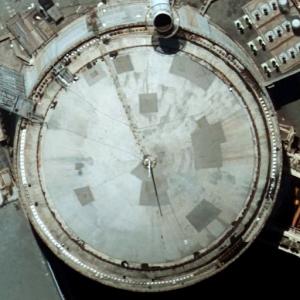 Photo of the corrosion on Koeberg unit 2 containment dome